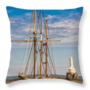 s/v Denis Sullivan Throw Pillow