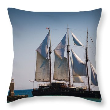 s/v Peacemaker Throw Pillow