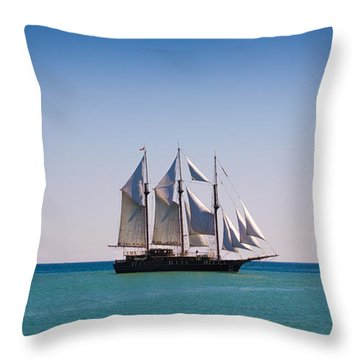 s/v Peacemaker Opening Throw Pillow