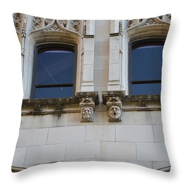 Throw Pillow featuring the photograph Sa Gargoyles  by Shawn Marlow