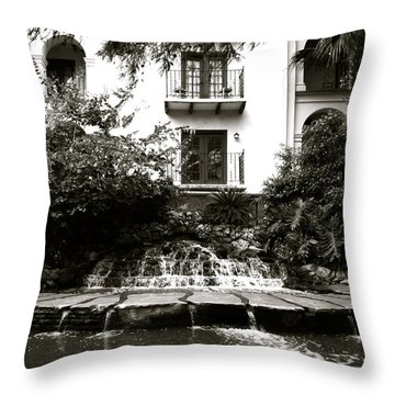 Sa River Walk 001-2013 Throw Pillow