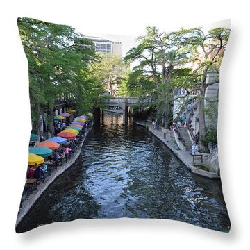 Sa River Walk 2  Throw Pillow