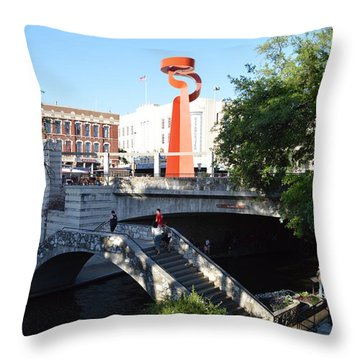 Throw Pillow featuring the photograph Sa River Walk by Shawn Marlow