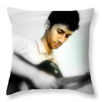 Saad The Guitarist Throw Pillow