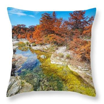 Sabinal River Magic Utopia Texas Hill Country Throw Pillow