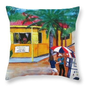Sabor A Puerto Rico Throw Pillow by Luis F Rodriguez