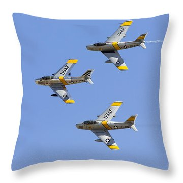 Sabres Of The Horsemen Throw Pillow