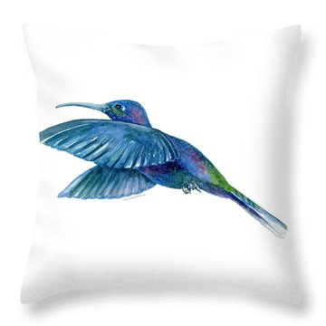 Sabrewing Hummingbird Throw Pillow