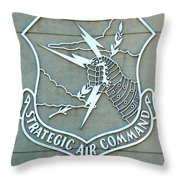 Throw Pillow featuring the photograph Sac Strategic Air Command by Jeff Lowe