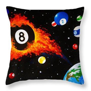 Space Balls Throw Pillow
