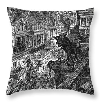 Sack Of Ctesiphon By The Romans Throw Pillow