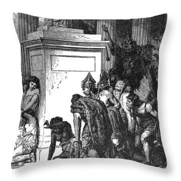 Sack Of Rome Gauls, C1894 Throw Pillow