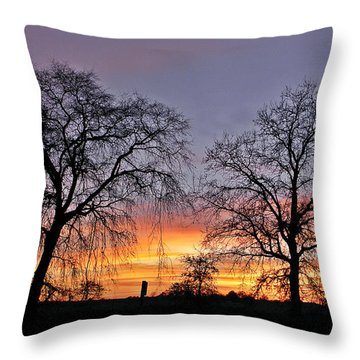 Sacramento Sunset Throw Pillow by Sherry Flaker