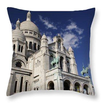 Sacre Coeur Paris Throw Pillow by Gary Eason
