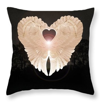 Throw Pillow featuring the digital art Sacred Angel by Eric Kempson
