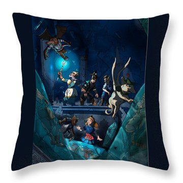 Sacred Burial Chamber Throw Pillow