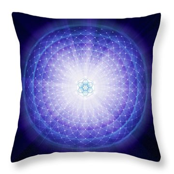 Throw Pillow featuring the digital art Sacred Geometry 59 by Endre Balogh
