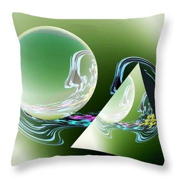 Sacred Geometry Digital Art Throw Pillow by Georgeta  Blanaru