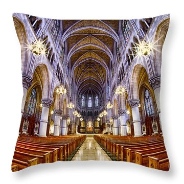 Sacred Heart Basilica Throw Pillow by Jerry Fornarotto