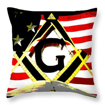 Sacred Throw Pillow by Mark Moore