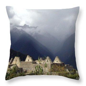 Sacred Mountain Echos Throw Pillow by Barbie Corbett-Newmin