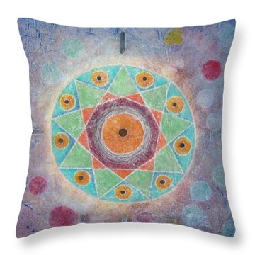 Sacred Nine Throw Pillow