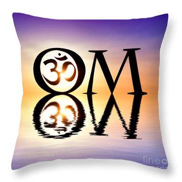 Sacred Om Throw Pillow