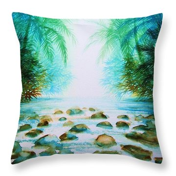 Sacred Pools Throw Pillow