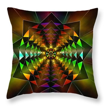 Throw Pillow featuring the drawing Sacred Power Of Nine by Derek Gedney