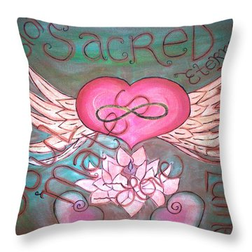 Sacred Soulmates And Twin Flames Throw Pillow