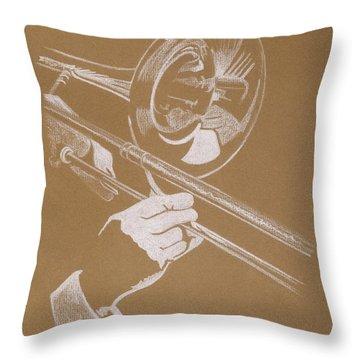 Sacred Trombone Throw Pillow