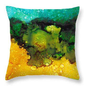 Sacred Wetlands Throw Pillow