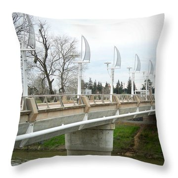 Sacramento California Water District Throw Pillow