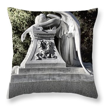 Sad Angel Throw Pillow