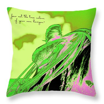Saddle Electric Pink Throw Pillow