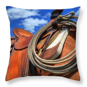 Saddle Up Throw Pillow by Bob Christopher