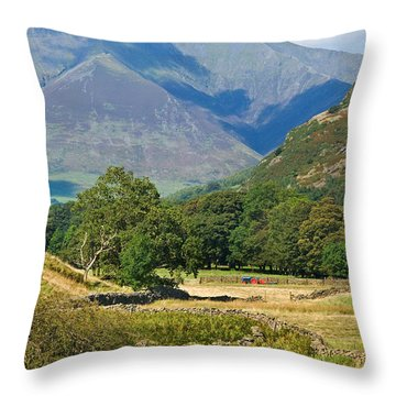 Throw Pillow featuring the photograph Saddleback Mountain by Jane McIlroy