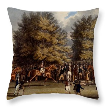 Saddling In The Warren, Print Made Throw Pillow
