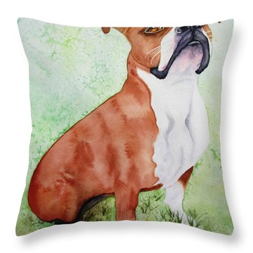 Throw Pillow featuring the painting Sadie by Diane DeSavoy
