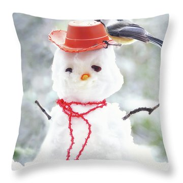 Sadies Snowman Throw Pillow