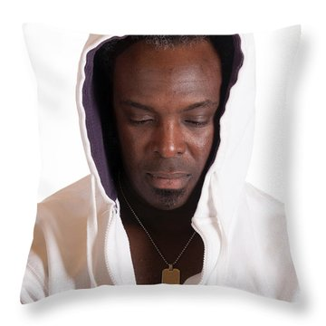 Sadness Throw Pillow by Gunter Nezhoda