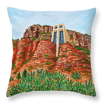 Sadona Church Throw Pillow