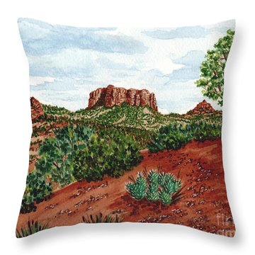 Sadona Two Mountains Throw Pillow