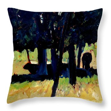 Sadowsky's Cattle Noon Rest Throw Pillow