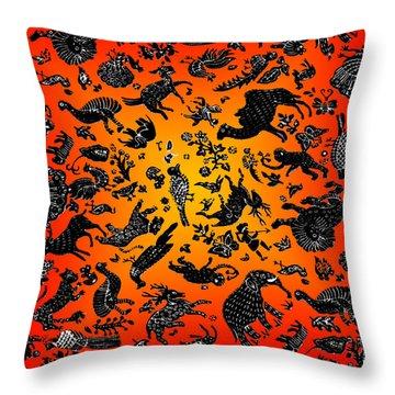 Safari Pattern 3 Throw Pillow by John Keaton