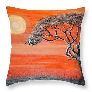 Safari Sunset 2 Throw Pillow