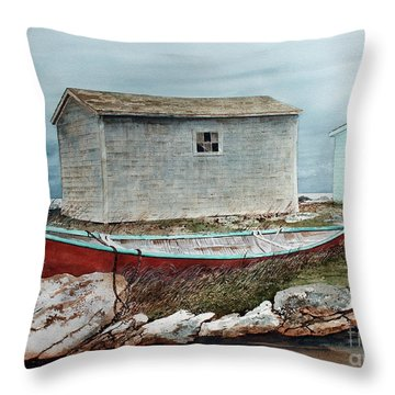 Safe From The Storm Throw Pillow