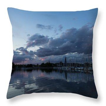 Safe Harbor After The Storm Throw Pillow by Georgia Mizuleva