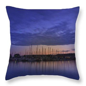 Safe Harbor Bayfield Wisconsin Throw Pillow