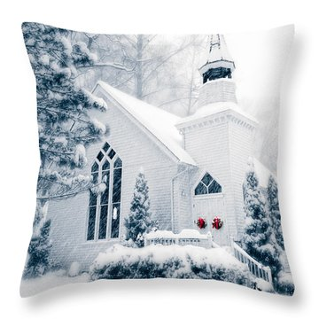 Historic Church Oella Maryland Usa Throw Pillow by Vizual Studio